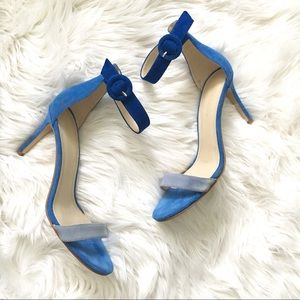 Marc Fisher Two Tone Blue Strappy Heels